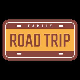 Diseño vintage de viaje familiar