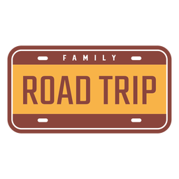Family road trip vintage design