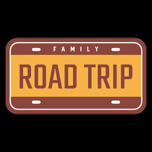 Diseño vintage de viaje familiar por carretera