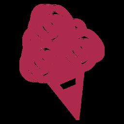 Desenho geométrico buquê florido