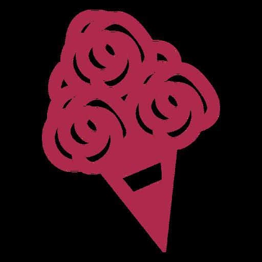 Ramo de flores diseño geométrico