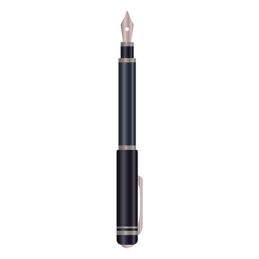 Fountain pen realistic illustration
