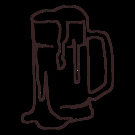 Frothy beer stroke design