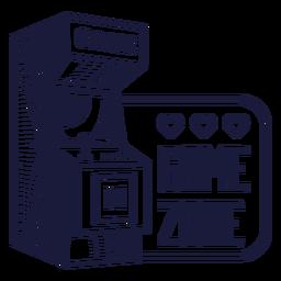 Distintivo da zona de jogo