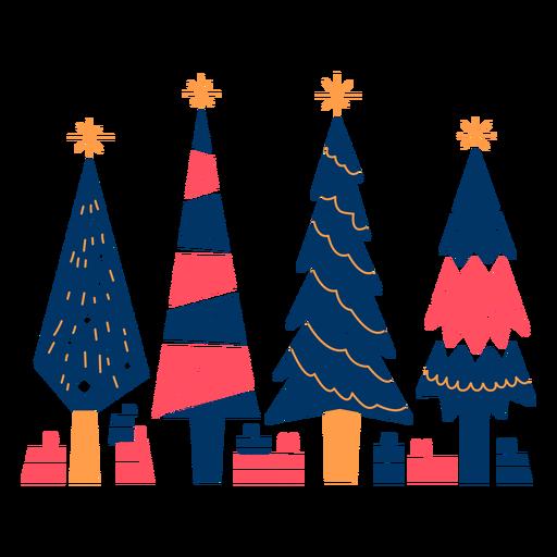Geometrische Bäume und Geschenke