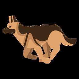 Perro pastor alemán con diseño geométrico