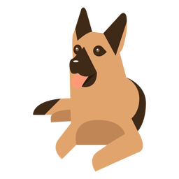 German sheperd laying dog geometric