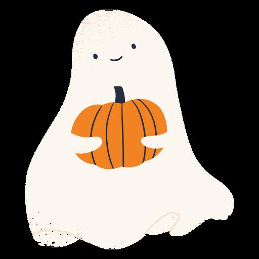 Personagem fantasma e abóbora