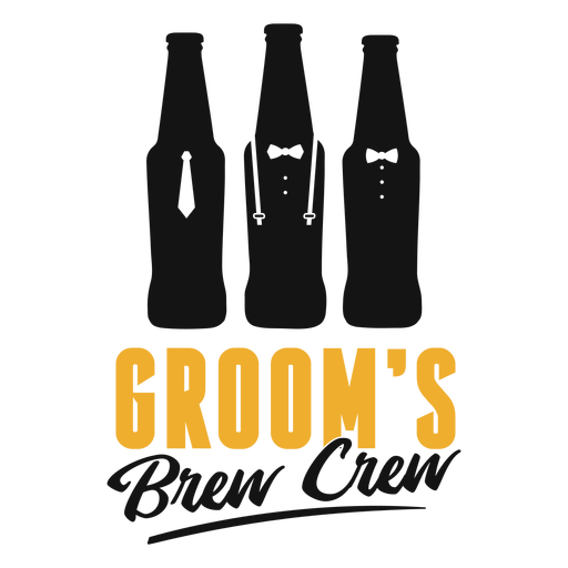 Groom's brew crew lettering