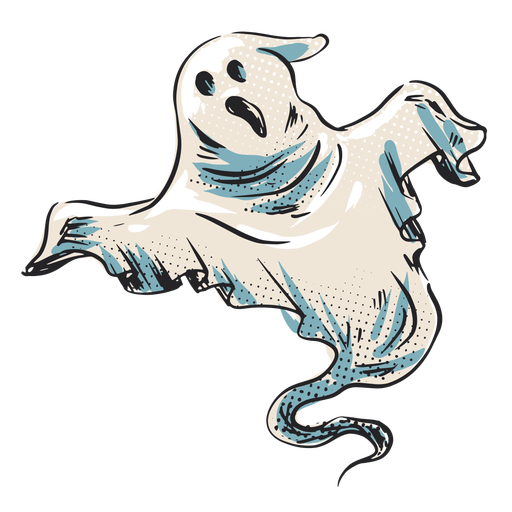 Halloween creepy ghost illustration