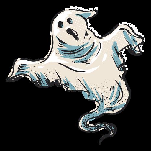 Ilustración de fantasma espeluznante de Halloween