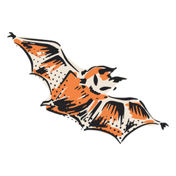 Halloween flying bat illustration