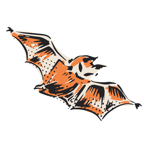 Halloween flying bat illustration