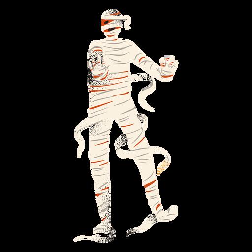 Halloween mummy standing character