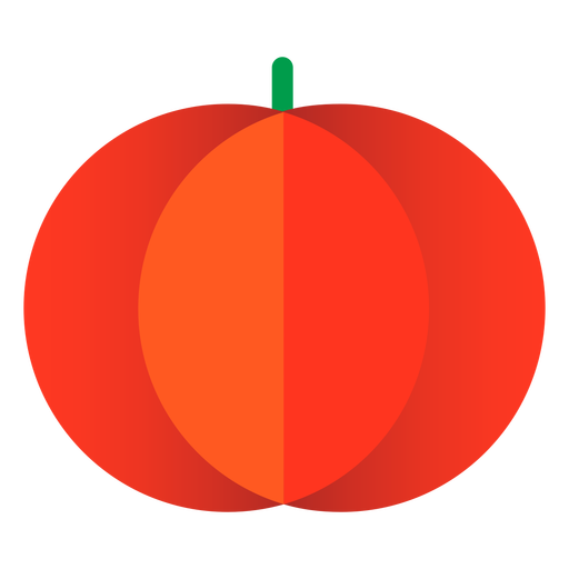 Calabaza de Halloween plana