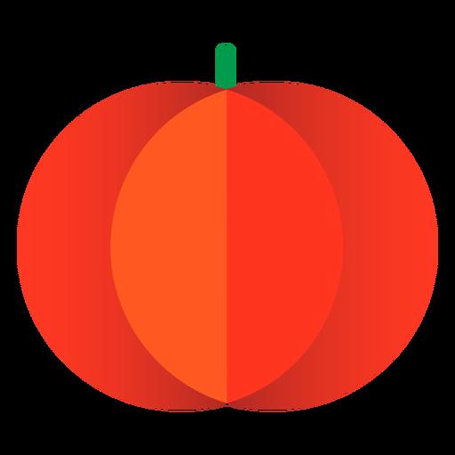 Halloween pumpkin flat