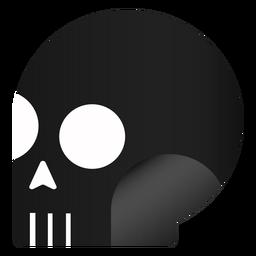 Halloween side view skull
