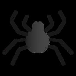 Design plano de aranha de Halloween