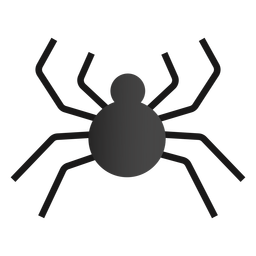 Halloween spider flat design