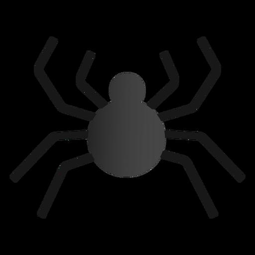 Diseño plano de araña de Halloween Transparent PNG