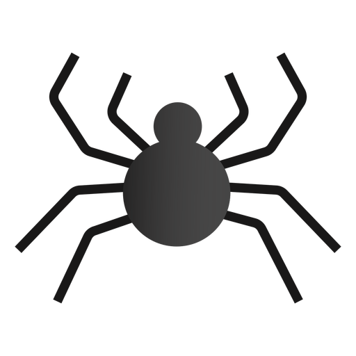 Halloween spider flat design Transparent PNG