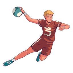Handball player in action