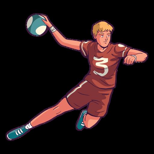 Jugador de balonmano en acción