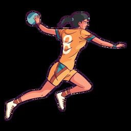 Ilustração de esporte de jogador de handebol
