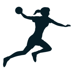 Handball player sport silhouette