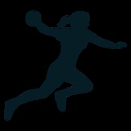 Silhueta de esporte de jogador de handebol