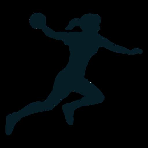Silueta de deporte de jugador de balonmano Transparent PNG