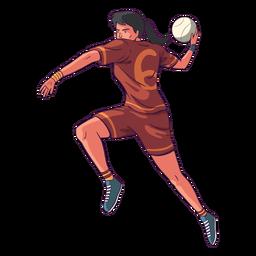 Handball woman player illustration