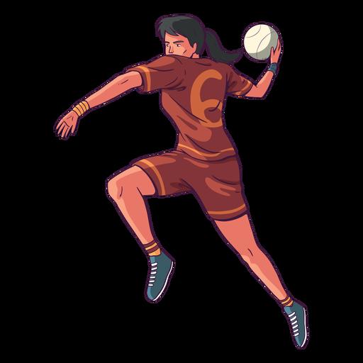 Ilustración de jugador de balonmano mujer