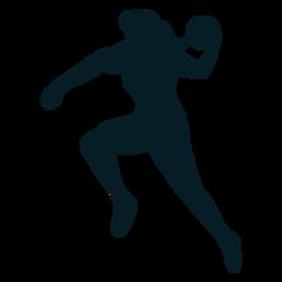 Handball woman player silhouette