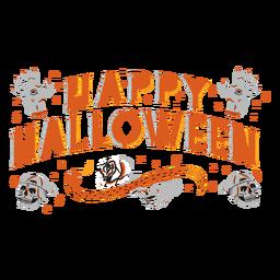 Diseño de letras espeluznante de feliz halloween