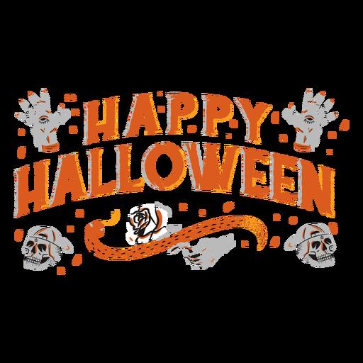 Diseño de letras espeluznantes de feliz halloween