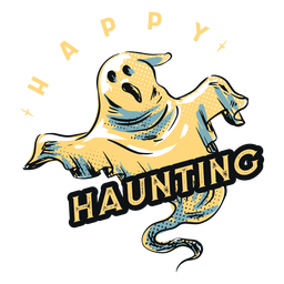 Happy haunting ghost badge