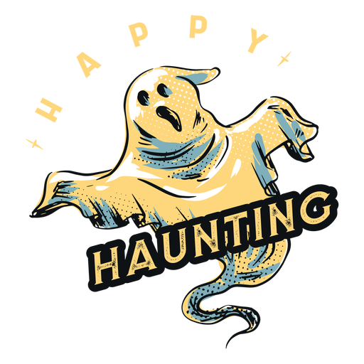Insignia fantasma inquietante feliz