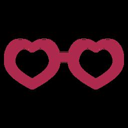 Accesorios de icono de gafas de corazón