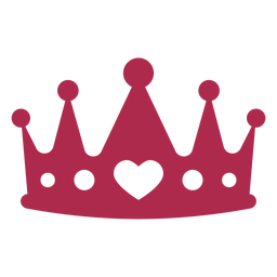 Heart king crown props