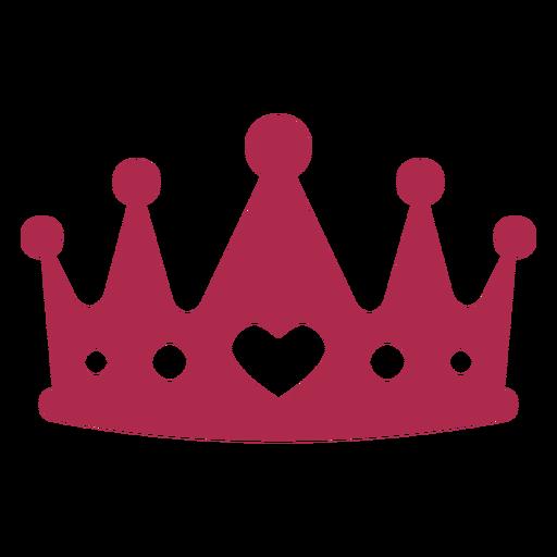 Adereços da coroa do rei do coração