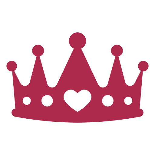 Heart king crown props