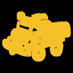 Plano de camión de transporte pesado