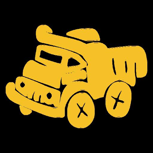 Heavy transport truck flat Transparent PNG