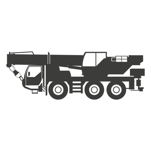 Heavy construction machine sillhouette Transparent PNG