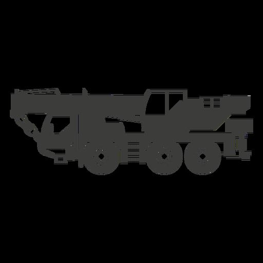 Sillhouette de máquina de construcción pesada
