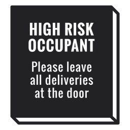 High risk occupant covid sign