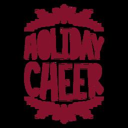 Saludo de bolsa de vino de alegría navideña