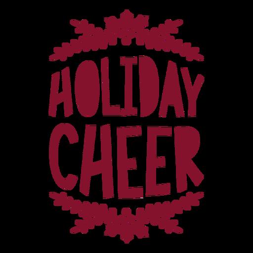 Holiday cheer wine bag greeting