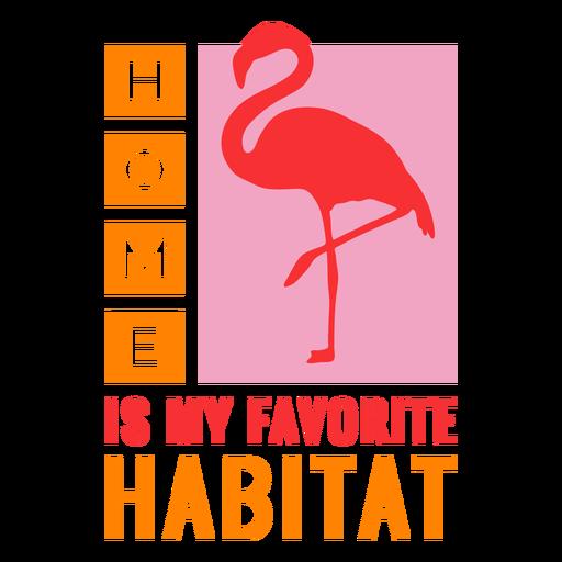 Insignia de flamenco de hábitat casero Transparent PNG